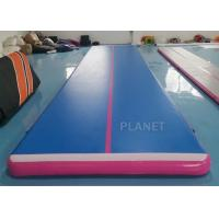 China 9x2x0.2m Custom Color Double Wall Fabric Air track Inflatable Airtrack For Home Use factory