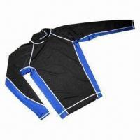 China Chlorine-resistant Swimwear/Rash Guard, Used for Swimming and Surfing on sale