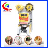China Commercial Fully Automatic Bubble Milk Tea Cup Sealing Machine With CE Certification factory