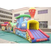 China Challenge Race Inflatable Obstacle Course Train Tunnel Climb Slide factory