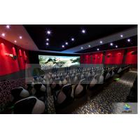 China Large High Definition 4D Movie Theater Motion Chair With Arc Screen factory