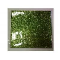 Light Green Frosted Chunky Glitter Fabric 0.55mm Thickness For Shoes And Wallpaper