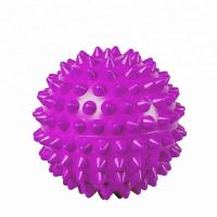 China Purple PVC Spiky Exercise Ball Massage Trigger Point Hand Exercise Pain Relieve on sale