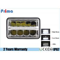 "Buy cheap 4X6"" LED Headlights Kits High Low DRL Crystal Clear Sealed Beam For Jeep Peterbilt Kenworth from Wholesalers"