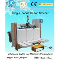 Buy cheap Servo System Single Piece Carton Box Stapler Machine With Speed 450 Nails / Min from Wholesalers