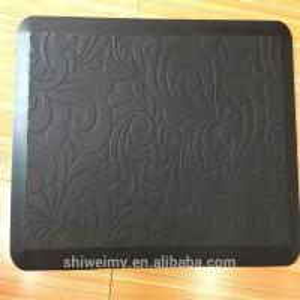 China Emboss printed type door entrance resist fatigue PU mats on sale