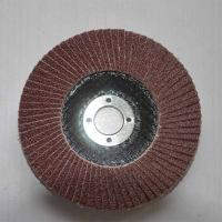 China Aluminum Oxide High Density Abrasive Flap Discs Conical For Angle Grinders Fiberglass Base on sale