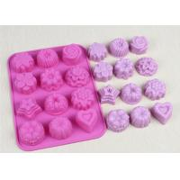 Buy cheap Christmas Flexible Silicone Cupcake Mold Non - Stick Durable Pink from Wholesalers