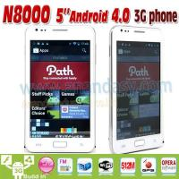 Buy cheap 5inch Android 4.0 3G Dual SIM Mobile Phone N8000 from wholesalers