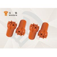 China High Flexibility Thread Button Bit , Drilling Rig Drill Bit Fatigue Resistance factory