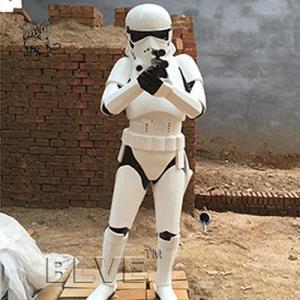 China star wars stormtrooper life size sculpture resin craft art fiberglass anime statues factory
