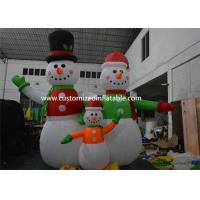 Quality Giant Inflatable Snowman Blow up Christmas Santa Claus Yard Decoratoin for sale