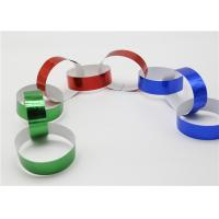 China Holographic Striped Christmas Paper , Gummed Paper Chains For Display SGS factory