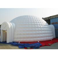 China 10 M Sewing Inflatable Igloo Marquee 3 - 8 Minutes To Finish Inflating factory