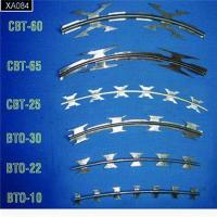 China 450mm Diameter Galvanized Razor Blade Wire / Straight Concertina Fencing Wire factory