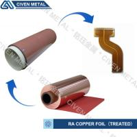 Buy cheap High Flexibility 25UM / 35UM / 50UM RA Copper Foil For Fine Circuit FPC from Wholesalers