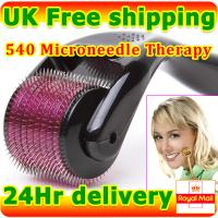 540 Microneedles Derma Skin Roller Wrinkle Removal Stretch Scars Acne Cellulite