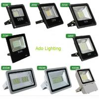China outdoor led flood lighting black fixture 10-200W RGB DMX controlled rechargeable security factory