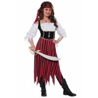 Buy cheap Pirate Body Shaper Teen Girl Halloween Costumes In White Black Red from Wholesalers