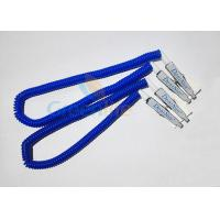 Buy cheap Plastic Stretchy Dental Scarfpin Coiled Cord Blue Color 30CM Long Custom Logo Printing from Wholesalers