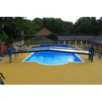 China Swimming Pool Rubber Flooring , Corrosion Resistant Rubber Pellet Flooring factory