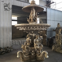China Large Bronze Garden Fountain 3 Tire Greek Statue Material Brass Landscaping Products factory