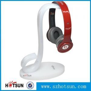 China High quality earphones holder,custom made clear acrylic earphones holder headphone display stand factory