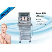 Buy cheap Permanent HIFU Machine 4.5mm Action Depth 3 Heads , Facial Wrinkle Remover from wholesalers
