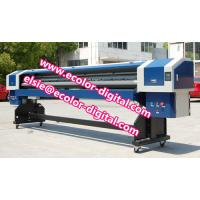 China 1440dpi solvent printer for large format posters printing exterior signage vehicle graphics canvas prints on sale