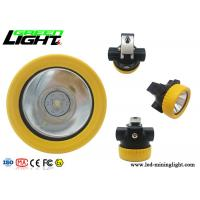 Quality Light Weight LED Miners Cap Lamp Small Size 5000lux 2.2Ah Battery Capacity for sale