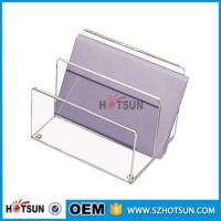 China china factory wholesale clear acrylic desk organizer with rubber feet factory