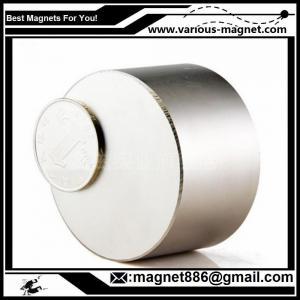 China 350 Lbs N52 Round D50 x 20 mm Neodymium Permanent Diameter Magnets factory