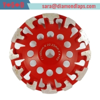 China T Shape Segment Diamond Cup Grinding Wheels for Concrete floor grinding factory