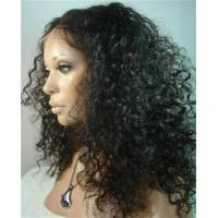 China 100% Human Hair African American Full Lace Wigs on sale