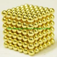 China Gold coated ndfeb magnetic cube factory