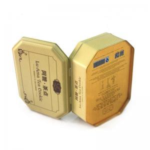 China Antique octagonal tea cookie metal tins wholesale factory