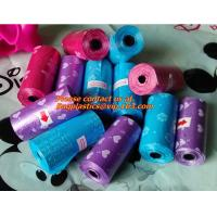 China Roll, Black, Pet Poop Bags, Dog, Cat, Waste, Pick Up, Clean Bag, a Roll of 20 Bags, pooper factory
