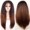 Buy cheap Brazilian virgin hair lace front wigs T1b/30 Ombre color Italian yaki kinky from wholesalers