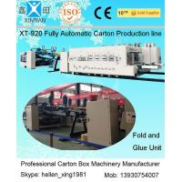 Buy cheap Automatic Box Folder GLuer Carton Manufacturing Machine With Printing Slotting Inline from Wholesalers
