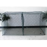 China 8 * 10 PVC Coated Material Reinforce Gabion Basket For River Bank on sale