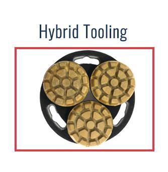 Hybrid diamond tooling transactional diamond pads