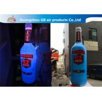 China Giant 5mH PVC Airtight Promotion Inflatable Olmeca Drink Bottle With Led Light factory