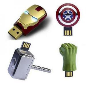 Fashionable Antimagnetic Mini USB Flash Drive Iron Man Captain America Hulk 128GB 64GB