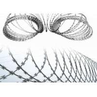 Buy cheap Concertina Coil Wire Galvanized Crossed Razor Barbed Wire With Clips from wholesalers