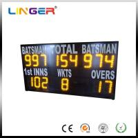 China Yellow Electronic Cricket Scoreboard For School Message Display , Easy Install factory