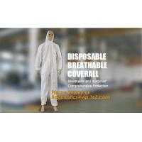 China disposable breathable coverall,China Supplier for Disposable Non Woven Coverall Suit,disposable wholesale waterproof cov on sale