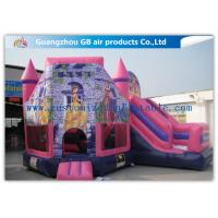 China Lovely Pink Princess Inflatable Bouncy Castle Kids Games CE / UL Certification factory