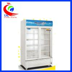 China Glass Door Soft Drink Upright Refrigerator Display Cooler Freezer Showcase factory