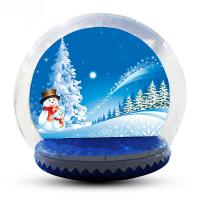 China 4m Big Inflatable Lawn Snow Globe / Blow Up Snow Globe Decoration factory