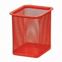 China Mesh Pen Holder, Size of 8 x 8 x 10cm factory